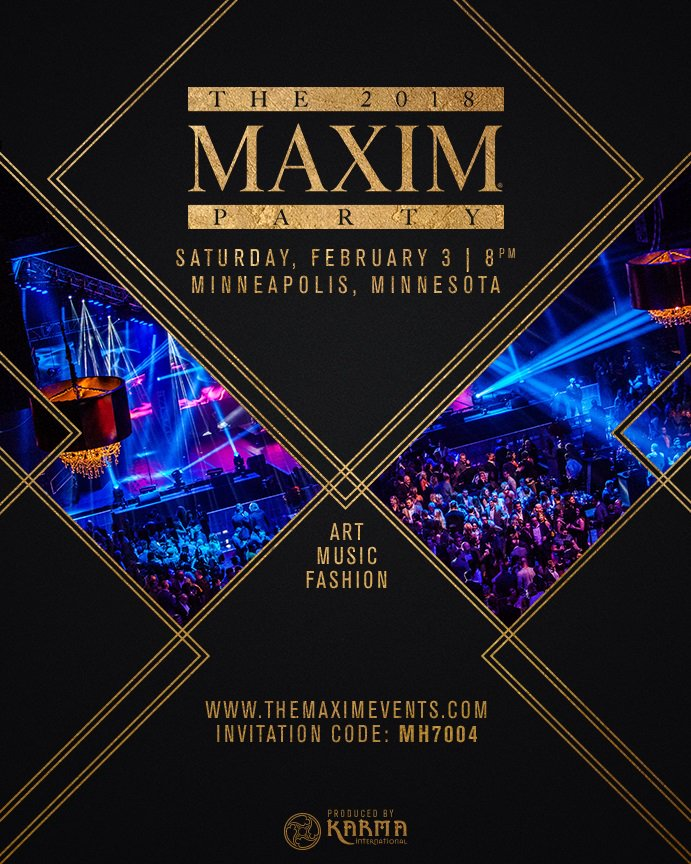 Book Tickets & Tables, View Photos & Videos, Read Event Details http://www.TheMaximEvents.com using #Maxim #party #Invitation Code: MH7004pic.twitter.com/ ...