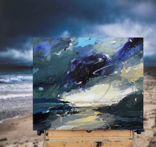 """Hold onto your hats folks...could be a bit of weather on the way. """"Ocean Storm"""", 35X45cm #artoftheday #painting #artgallery  #ocean #storm #weather<br>http://pic.twitter.com/8iaYahe8F4"""