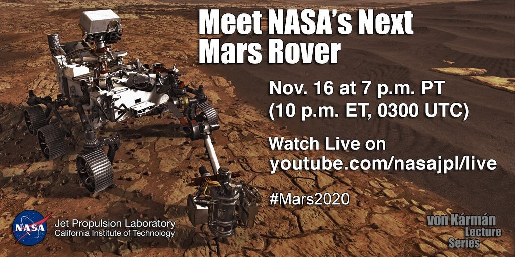 Red rover, red rover. Meet the next rover @NASA is sending over to Mars. Live talk tonight about #Mars2020 on https://t.co/ua3BONukbF