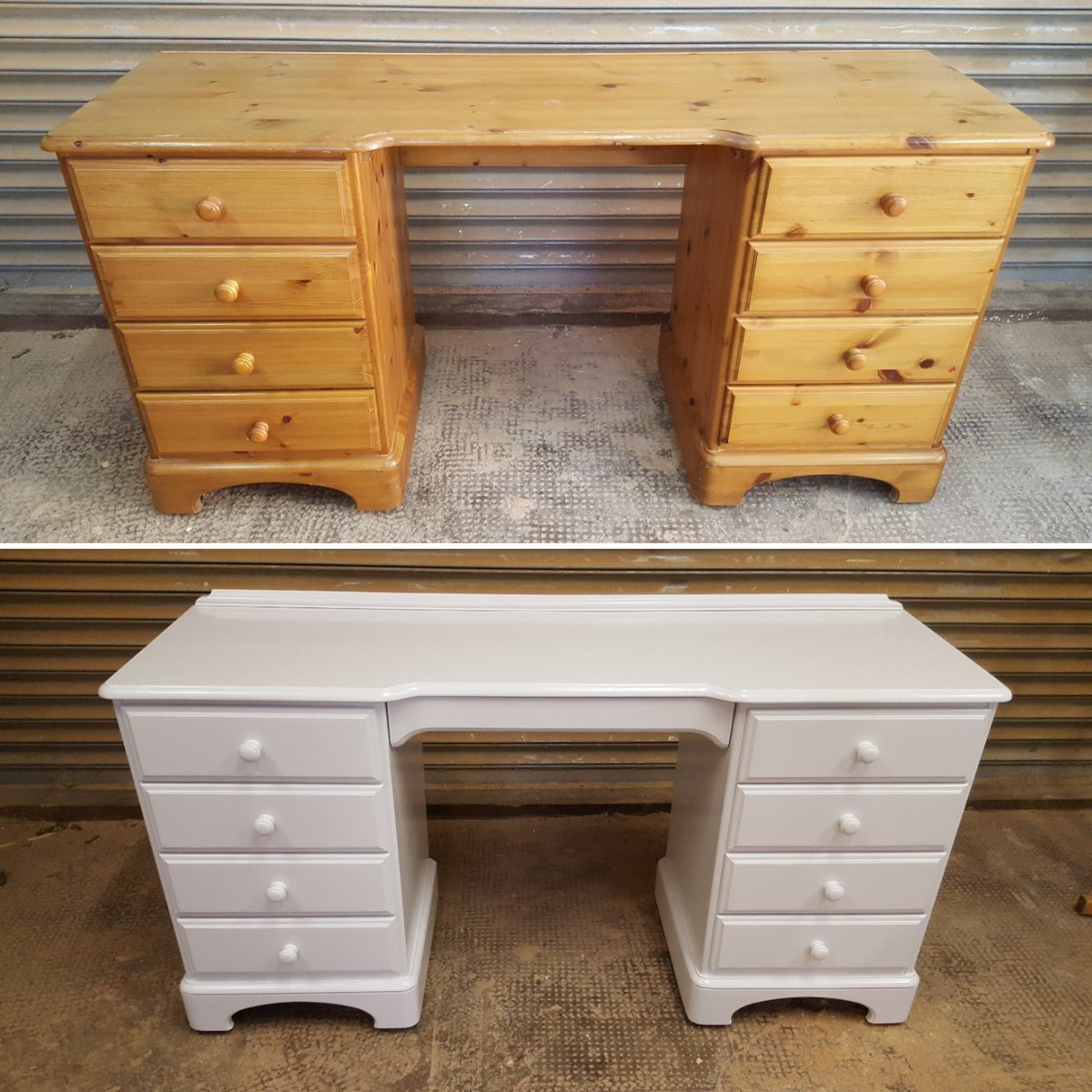 Pine Furniture Spray Painted In An Off White With A Semi Matt Finish.  Before U0026 After #pine #Pinefurniture #Furniture #bedroomfurniture #oldtonew  #Upcycled ...