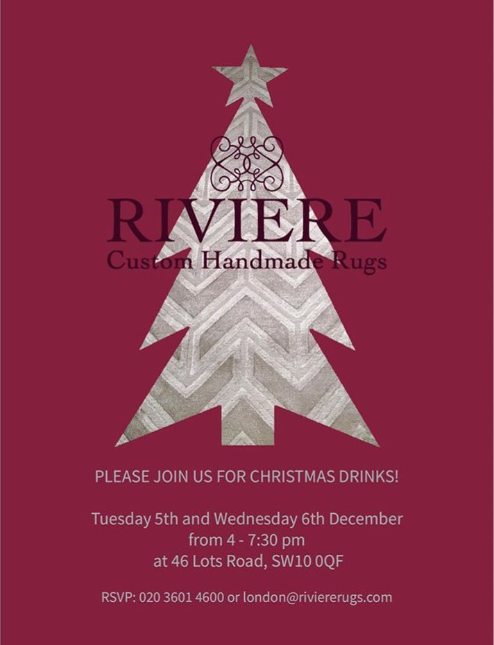 Riviere On Twitter Come And Join Us For Christmas Drinks At Our Lots Road Showroom 4 730pm On Tuesday 5th And Wednesday 6th December For Mulled Wine And