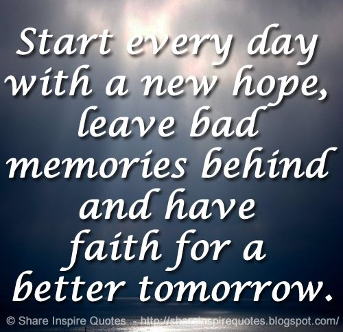 Share Inspire Quotes On Twitter Start Every Day With A New Hope