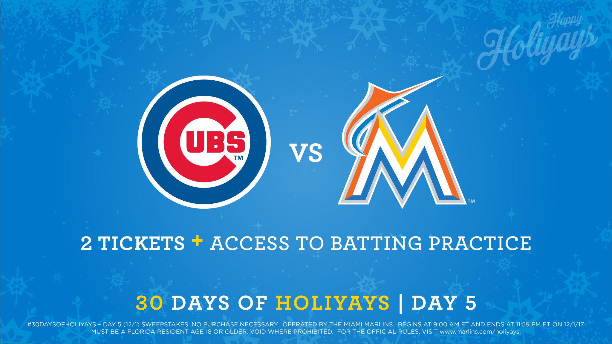 Miami Marlins On Twitter Go Get BP Access And Two Tickets To A Cubs Vs Game Next Season Follow Us Instagram For Your Chance