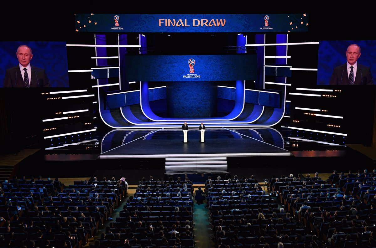 GROUP E: Brazil Switzerland  GROUP F: Germany Mexico  GROUP G: Belgium England  GROUP H: Poland Colombia  #WorldCupDraw https://t.co/RGRtJoM5uj