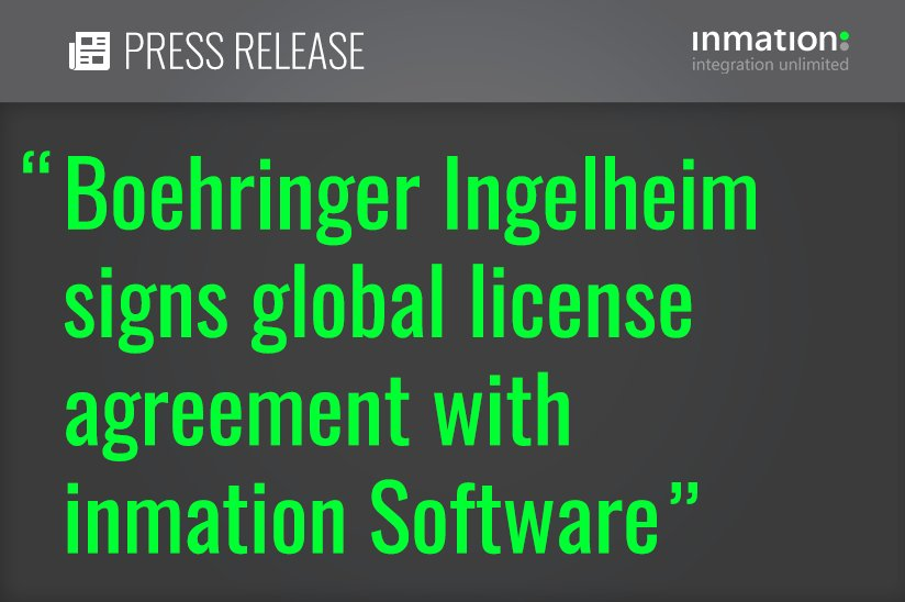 Inmation On Twitter Boehringer Signs Global License Agreement