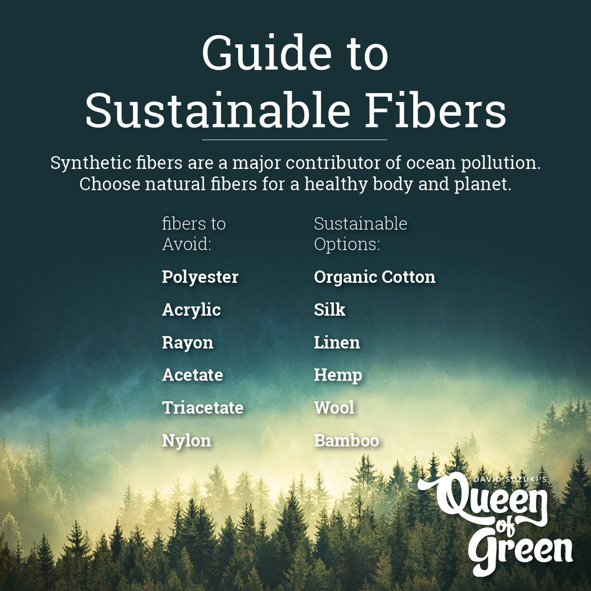 Choose #sustainablefashion and keep microfibers out of the oceans! https://t.co/EcKgXnN6XH