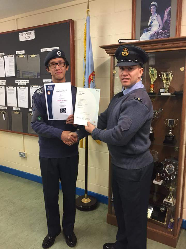 90 Had More Awards Presented Last Night Two BTECs Another Heart Start Badge And Blue Leadership Cpl Teh Recieved His Master Air Cadet