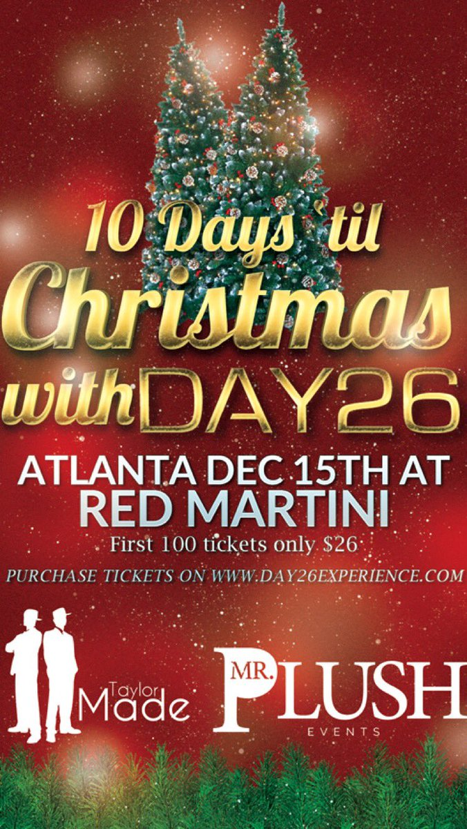 """ATLANTA - Day26 Live @ Red Martini """" Friday - Dec 15th! Tickets Available Now @ https://t.co/ioTa6SKfjR First 100 tickets only $26 https://t.co/KbTVyhoqel"""