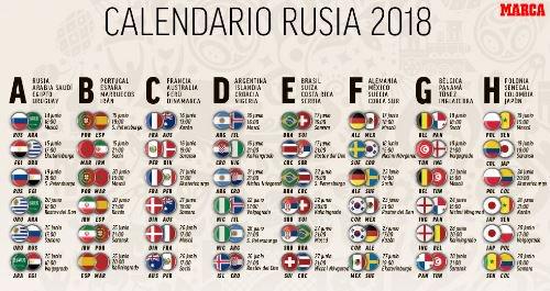Calendario Mundial Rusia 2018.O Xrhsths Marca Sto Twitter Descargate Aqui El Calendario