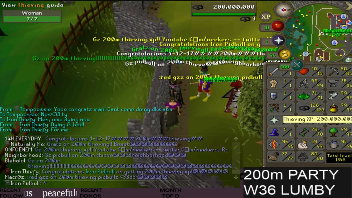 Pidbull On Twitter 200m Thieving 18 Ironman 99 Herb Banked In Seeds And Gp For Days Time To Finally Max My Skiller Now 3