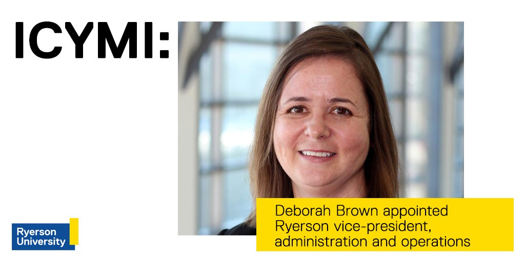 Delightful #ICYMI: Deborah Brown Joins The Ramily As The New Vice President,  Administration And Operations. ...