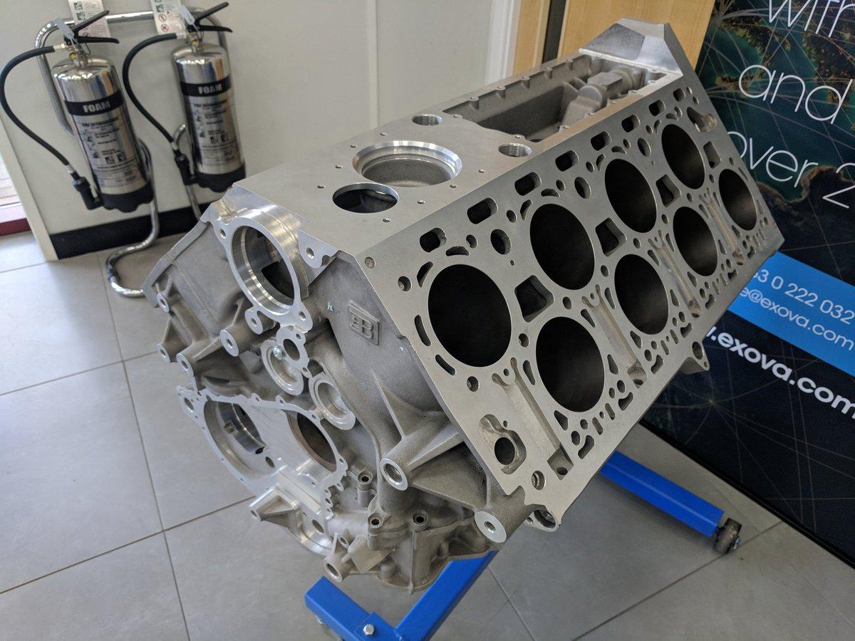 bugatti w16 engine block by iain macleod assoc i m a ltd