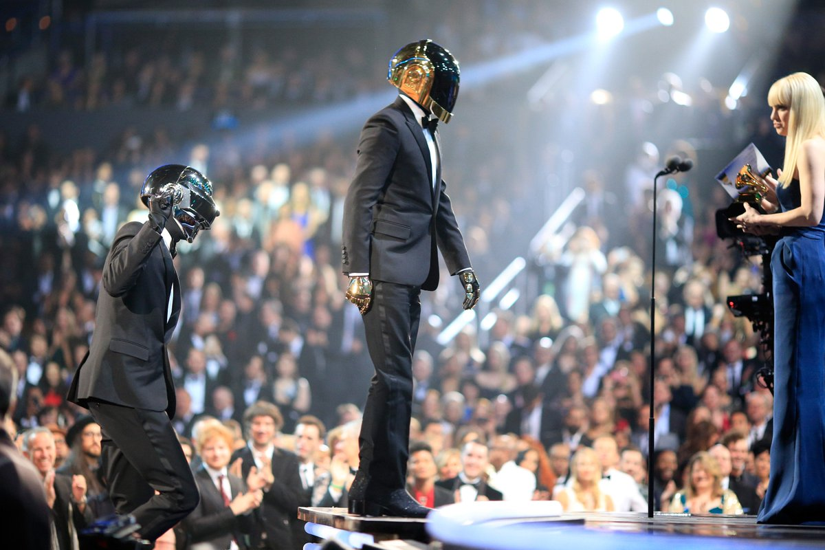 #DaftPunk performed and took home 4 #GRAMMYs, including Record Of The Year and Album Of The Year at the 56th #GRAMMYs in 2014! #GRAMMYVault <br>http://pic.twitter.com/GDKkyV4qed