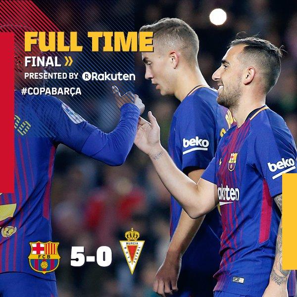 Chấm điểm trận Barcelona 5-0 Murcia