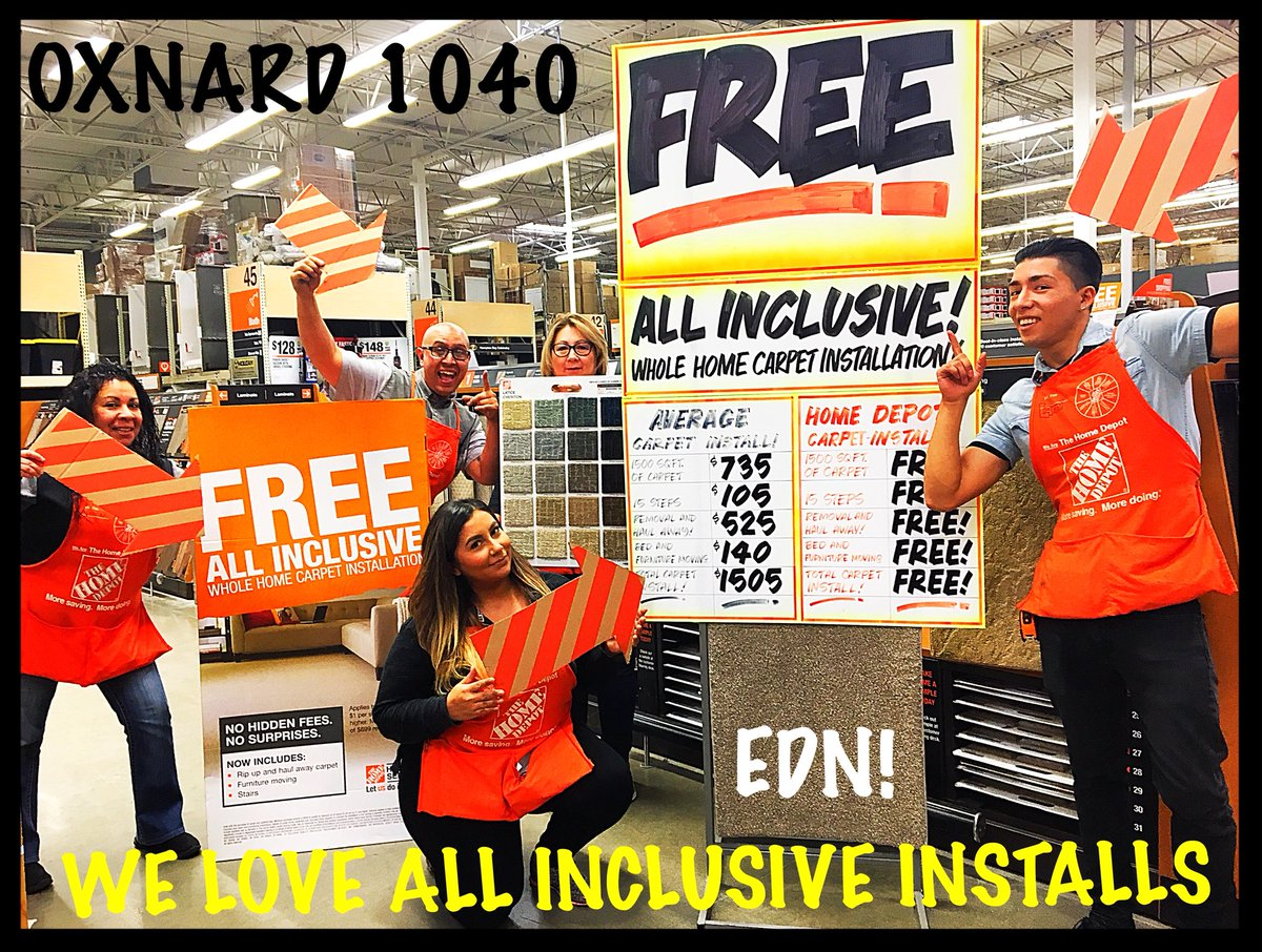 J T Fisher On Twitter Did Somebody Say Free Now Is The Time To Get Your New Carpet Installed At Oxnard Home Depot