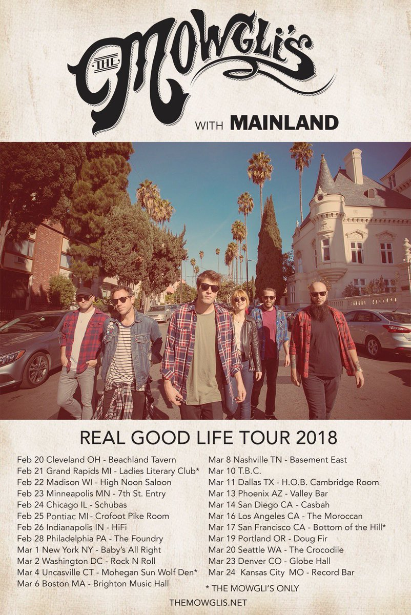 Image result for the mowgli's 2018 tour