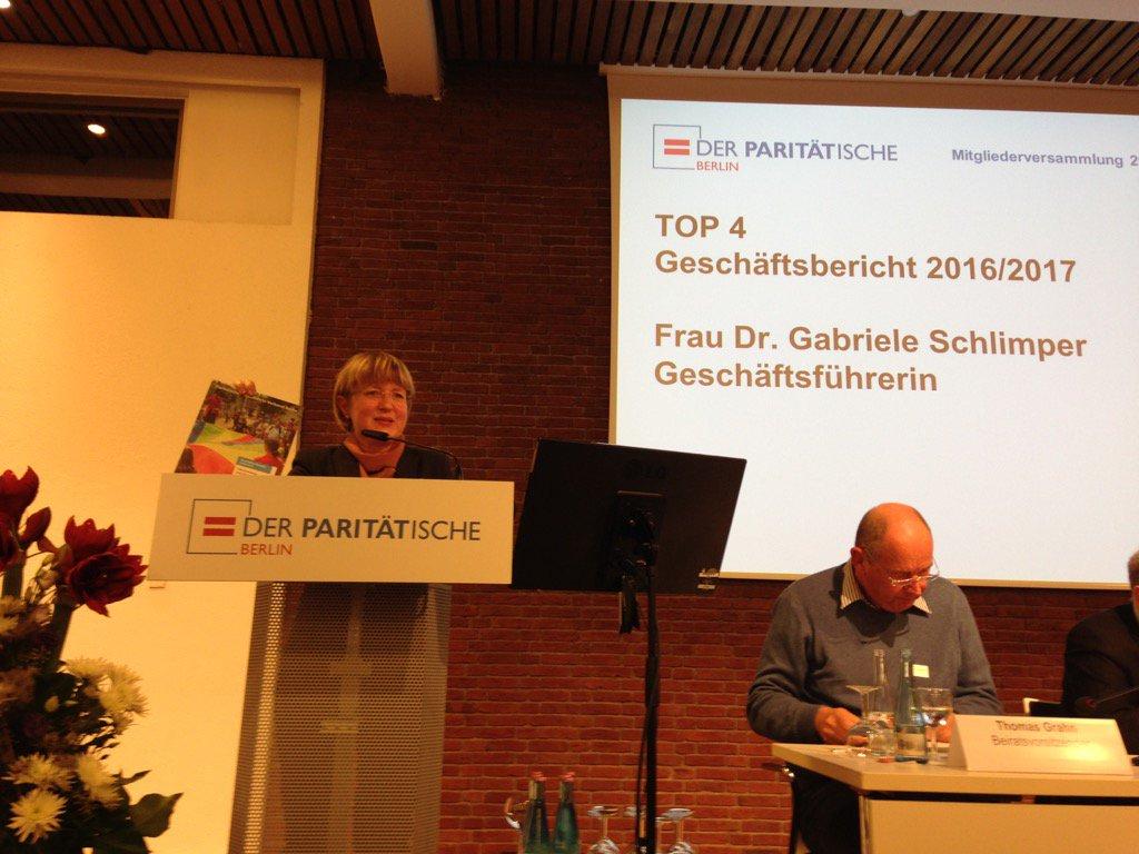Paritätischer Wohlfahrtsverband Berlin Geschäftsbericht 2017