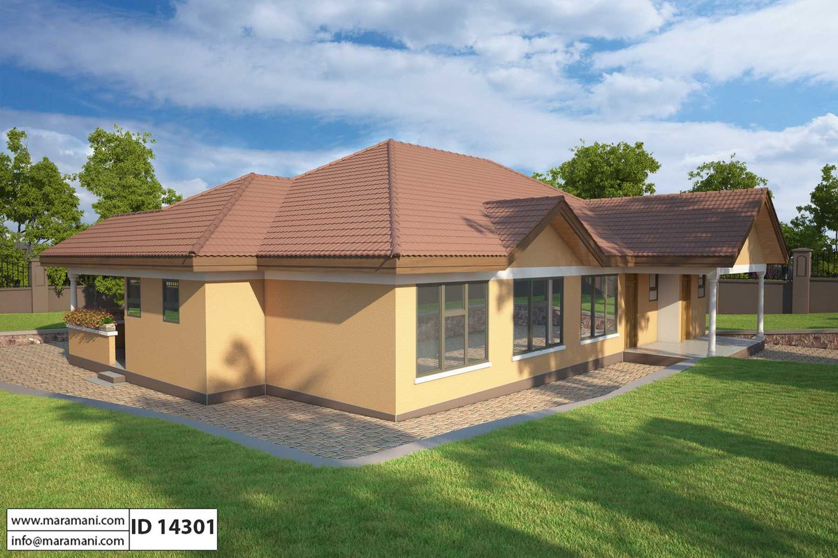 Maramani house plans on twitter 4 bedroom single story - Single story four bedroom house plans ...