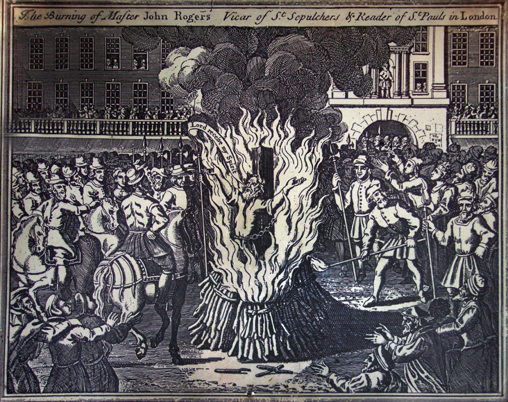 Queen Bloody Mary Burning People