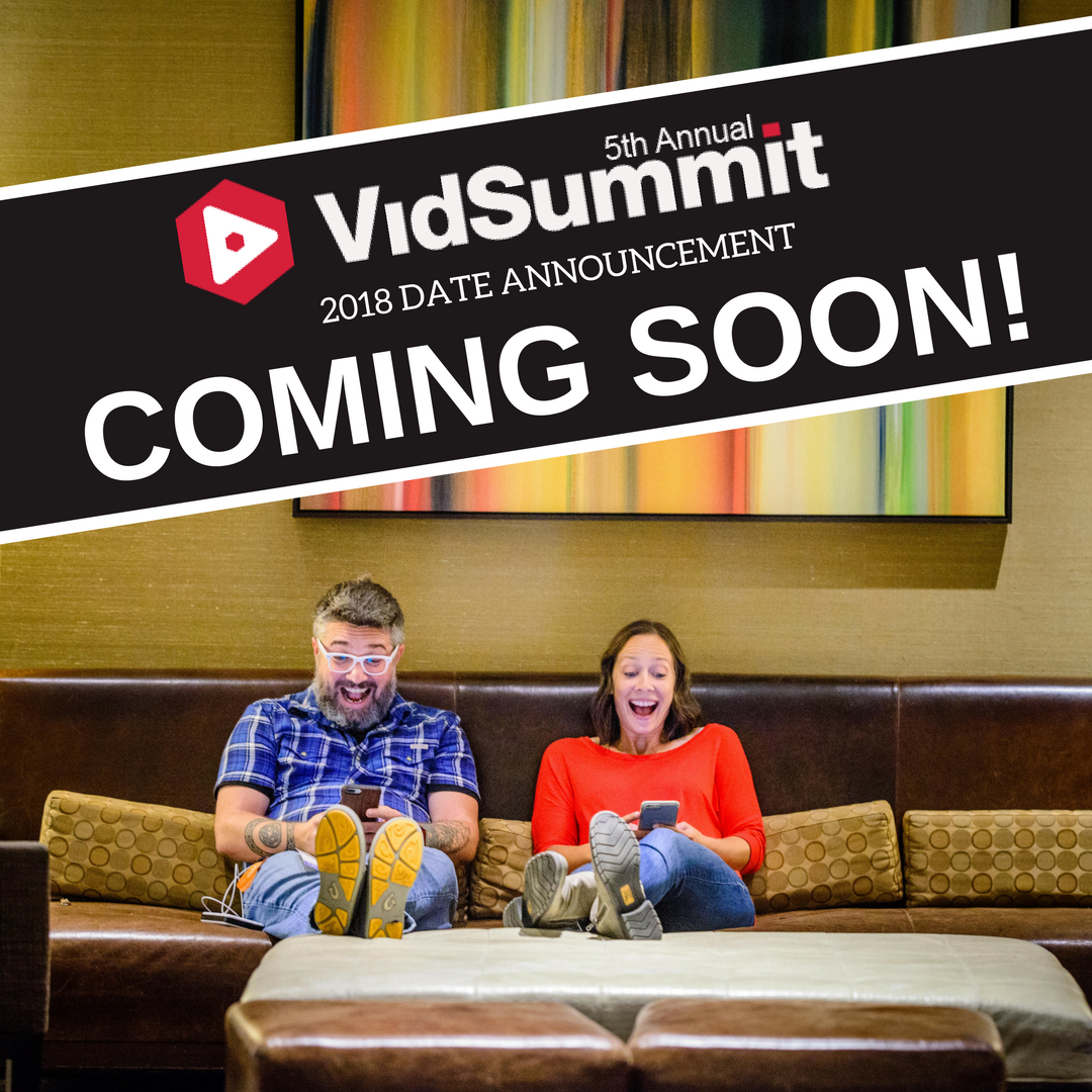 We can't wait! Who would you like to meet at next years conference??  Retweet to spread the word! #VidSummit #Announcement #fun #exciting  #videomarketing ...