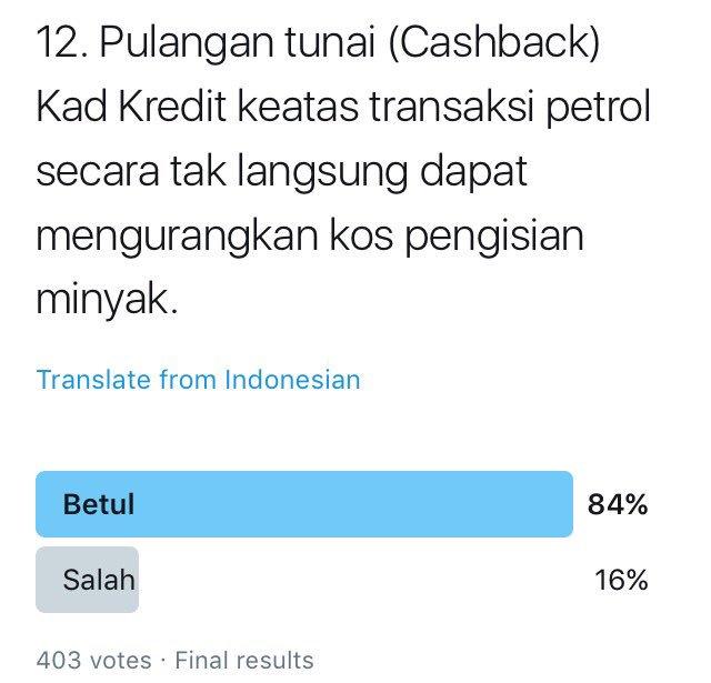 Kewangan Graduan On Twitter Soalan 19 Betul Selalu Isi Minyak Daftar Menjadi Ahli Kad Ganjaran Sebagai Contoh Kad Mesra Petronas Perbelanjaan Mengisi Minyak Atau Di Kedai Mesra Akan Diberi Mata Ganjaran