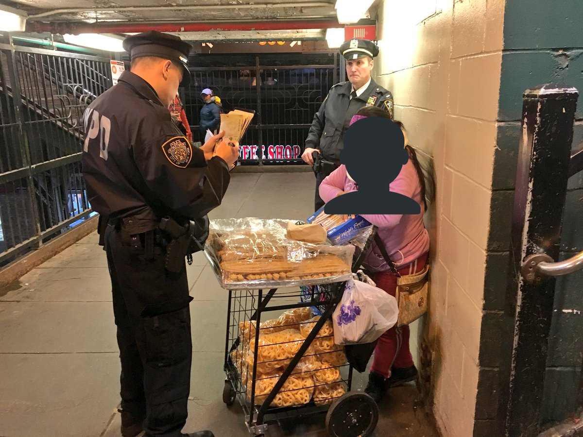 This is what NYPD is currently doing at the Myrtle Ave station in Brooklyn. 😒