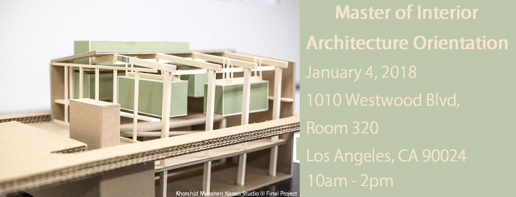 #UCLAExtension U0026 #CalPolyPomona Masters Of #InteriorArchitecture  Orientation. We Hope To See You There!  Https://www.facebook.com/events/436108130138177/ ...