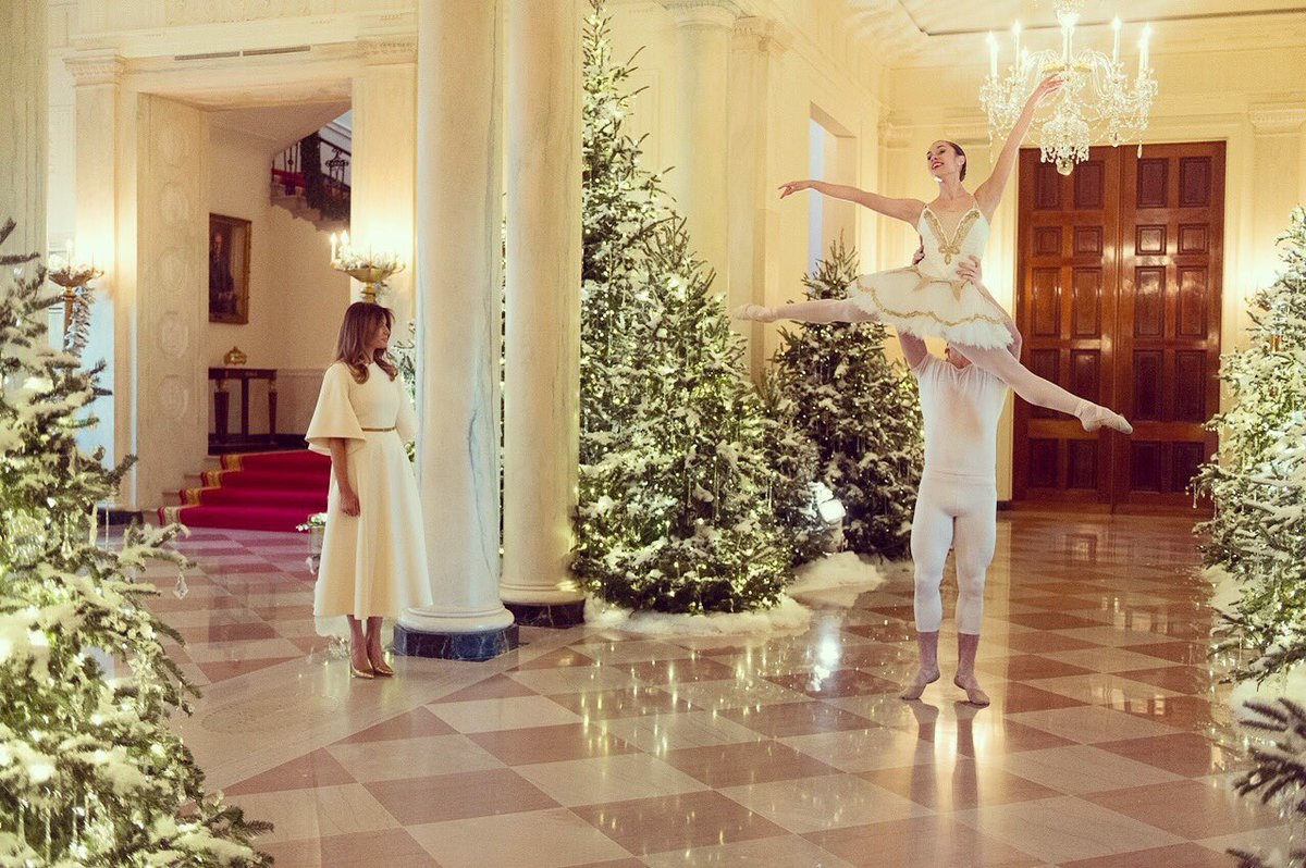 Thank you to the talented performers from Vivid Ballet Company who helped us unveil this year's decorations at the @whitehouse.