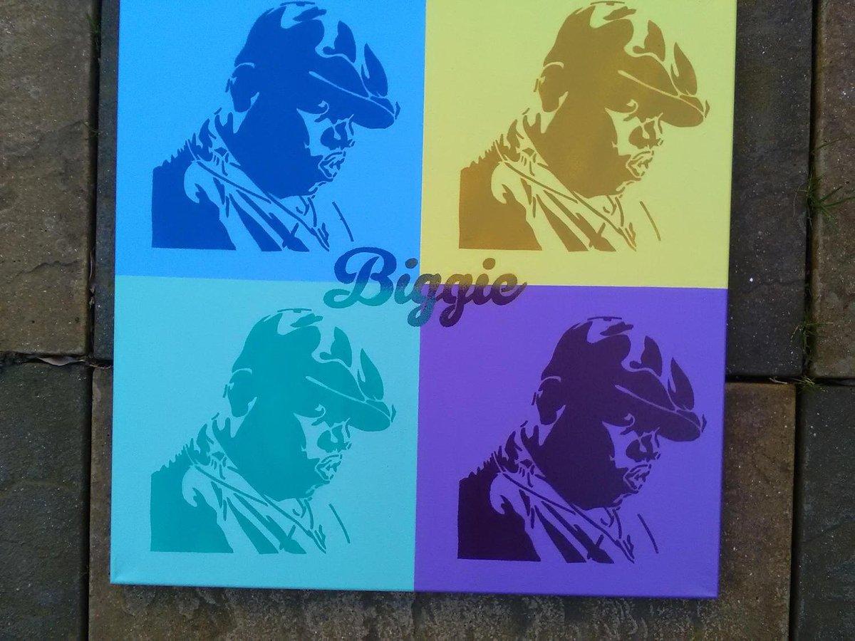 Biggie smalls painting andy warhol pop art hip hop brooklyn new york america graffiti spray paint art street art king stencil art canvas art painting