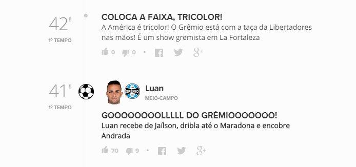 'Estagiário' se empolga após o segundo gol do Grêmio 😄 Acompanhe o Tempo Real:  https://t.co/iYMRb6z3y0