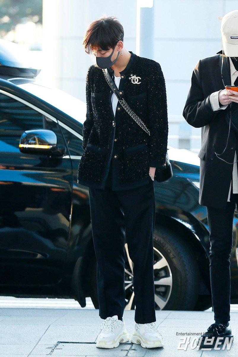 Bambam wearing Balenciaga Triple S