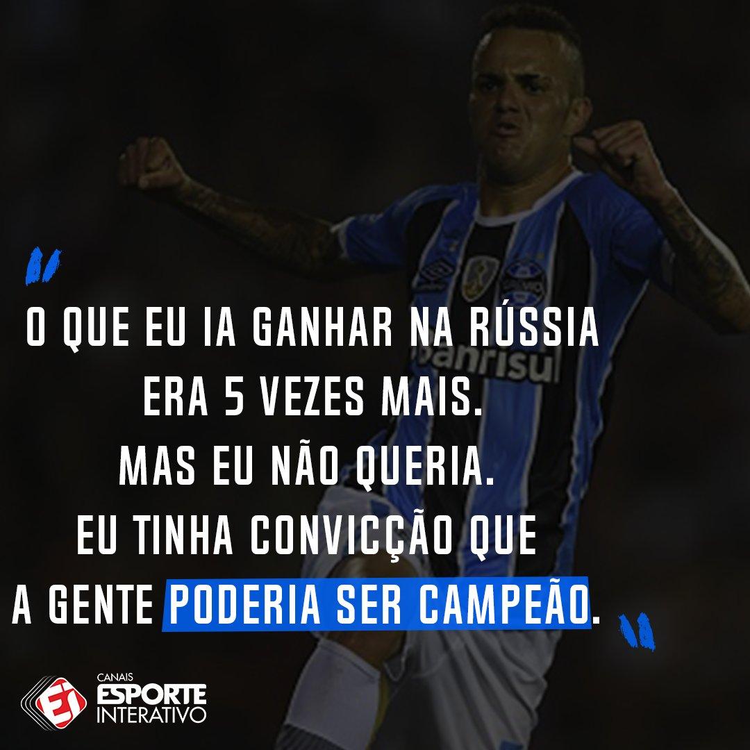Ele ficou, foi campeão e eleito o craque da Libertadores. Alguém duvida que Luan fez a coisa certa? Olha essa declaração do atacante em entrevista à Fox Sports.