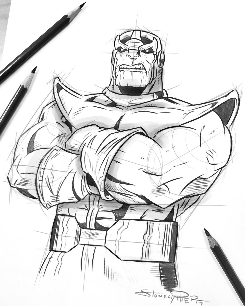 Andrew Stonecypher On Twitter Sketching Thanos After Watching The