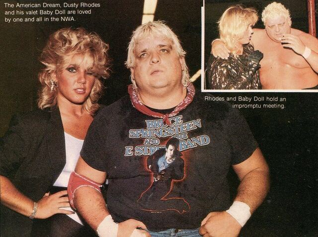 80 S Wrestling Pics On Twitter Dusty And Baby Doll