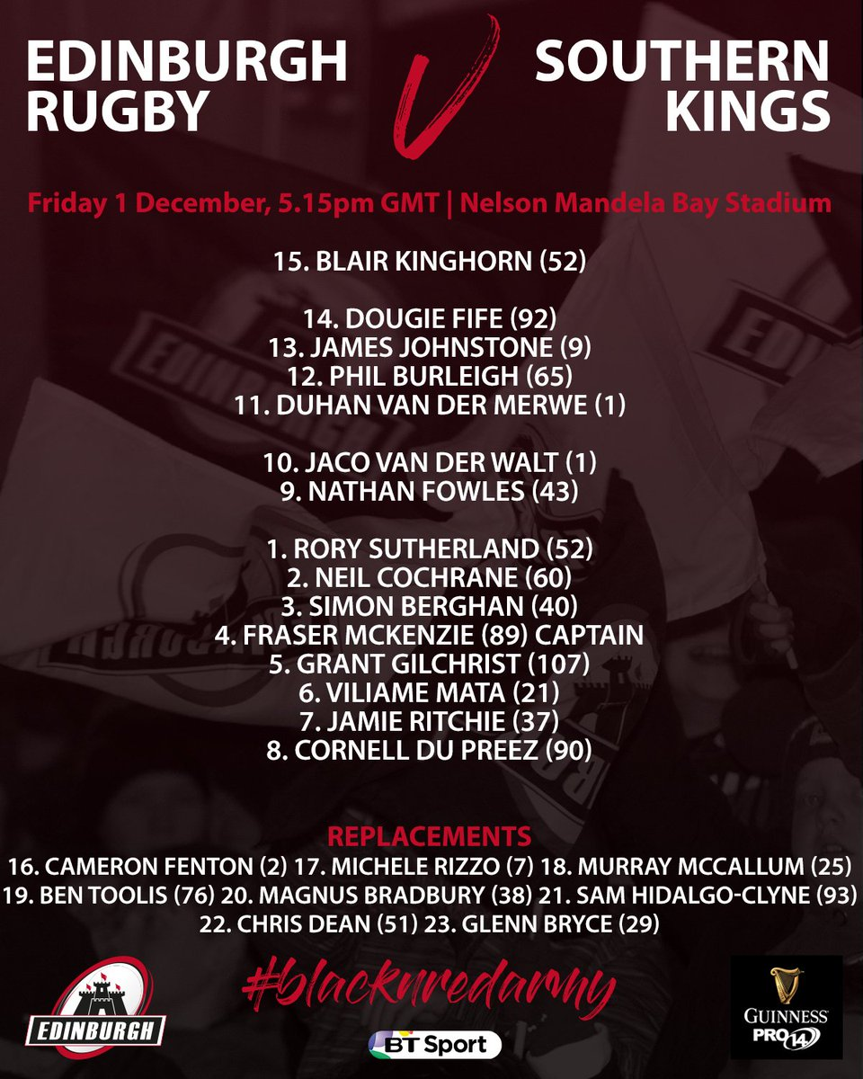 Kings vs Edinburgh, Nelson Mandela Bay Stadium, 17:15 - Fri 1.12.17 DP38pPEX4AEFbbd