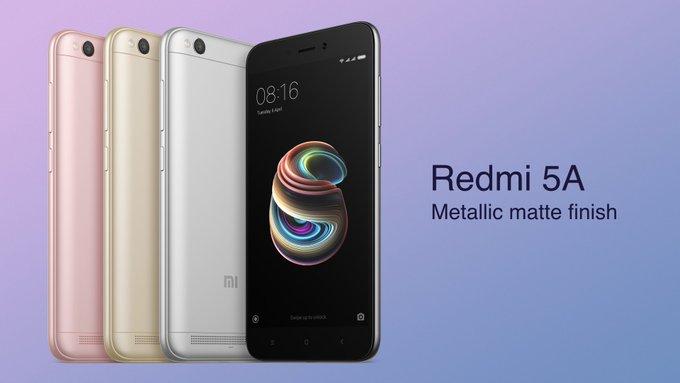 Redmi 5A has Metallic matte finish
