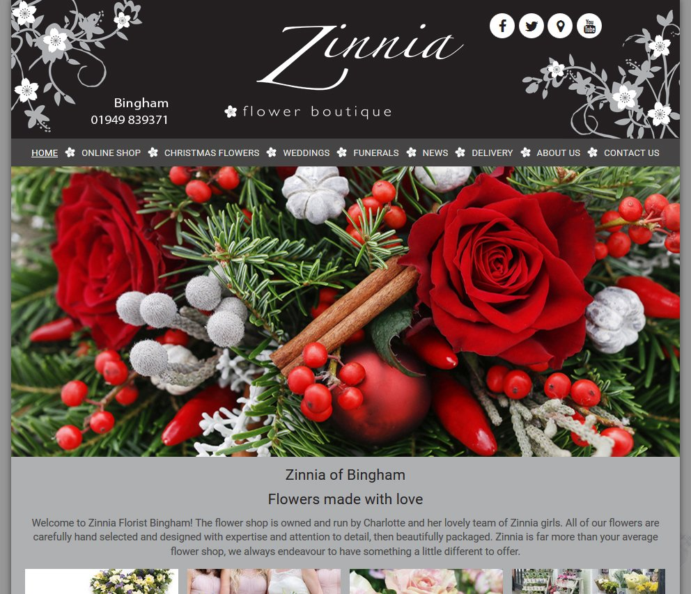 Florist Window On Twitter Zinnia Florist Bingham Have A New Site