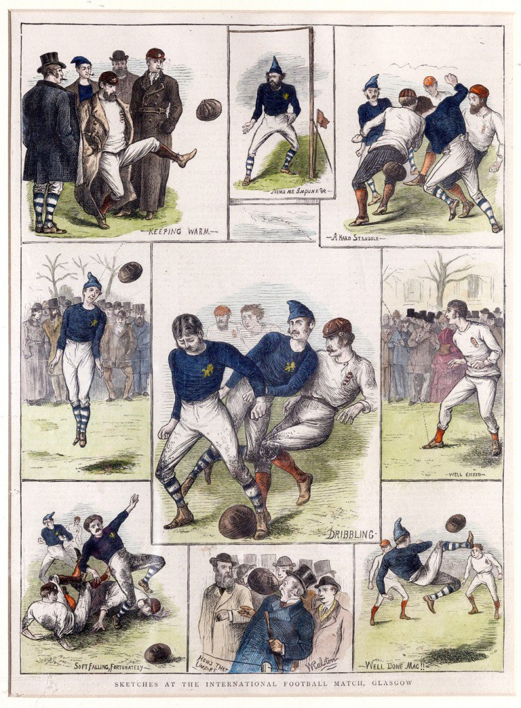 In 1872, England & Scotland met in the first ever international match.