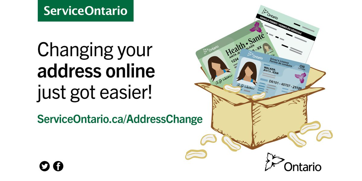 ontario drivers license address change