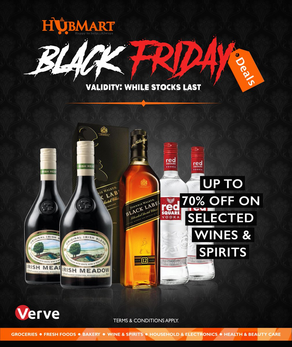 Verve Card On Twitter Still In The Black Friday Season We Are Giving Upto 70 Off Wines And Spirits When You Shop At Hubmart Store Don T Miss This Amazing Deal Blackfriday Vervecard