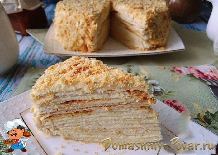 Торт наполеон рецепт классический из слоеного теста