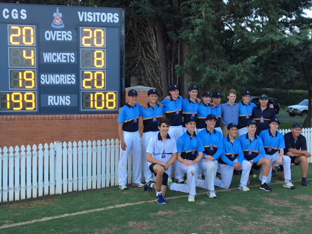 Many congrats to the 1st XI on a great T20 match.  Great to watch and a beautiful way to spend a late afternoon by the Main Oval @CanberraGrammar.