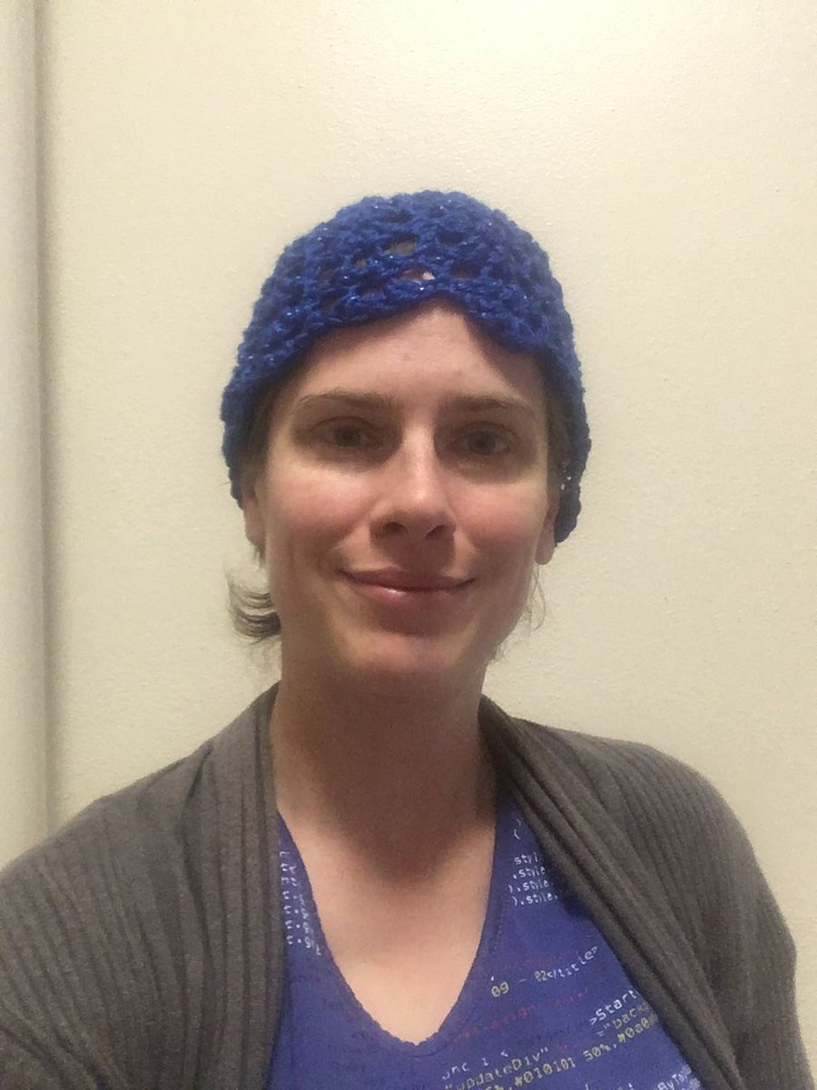 a63224fb92f Elaine Shannon  webelaine. Celebrating Blue Beanie Day to raise awareness  about accessibility for all ...