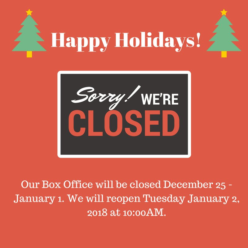 just a quick reminder that our box office is closed for the holidays and will reopen in the new yearpictwittercomnblomtn8c1