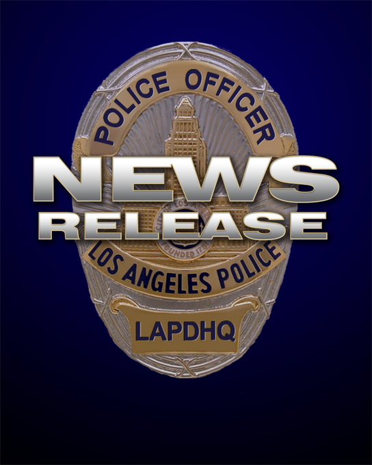 LAPD News Release image