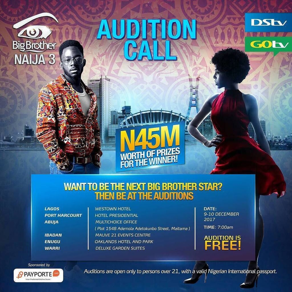 N45million Prize Up for Grabs as Big Brother Naija Returns! Here's All the Details of Audition Across Nigeria