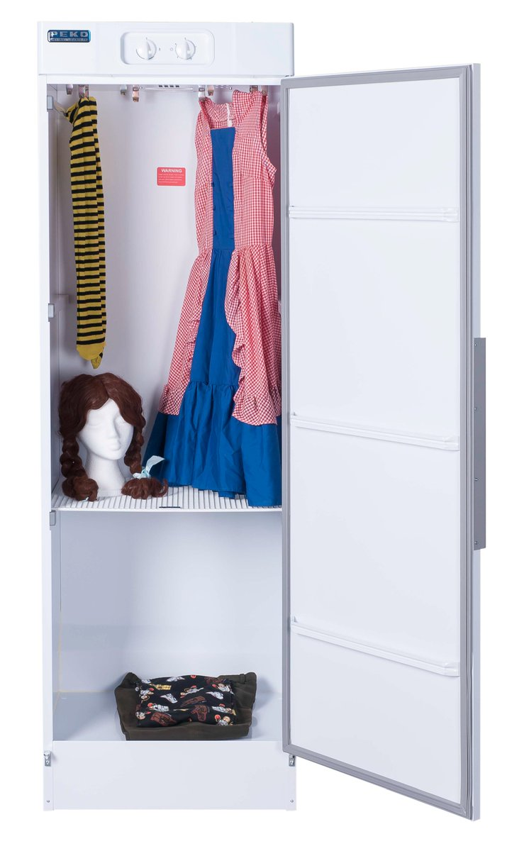 ... Is Ideal For Drying And Protecting Costumes. Stainless Steel Or White  Plastic Shelves Can Also Be Retrofitted To Accommodate Props And Smaller  Items ...