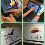 Our Kinder CoLab loved using the new #googleslides add on with @PearDeck to spell short a words.