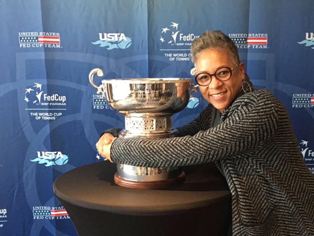 #ThursdayThoughts with @katadams68: 'Reunited😍😍😍 #TeamUSATennis #usta #fedcup #champions #2017' (📸: Katrina Adams).