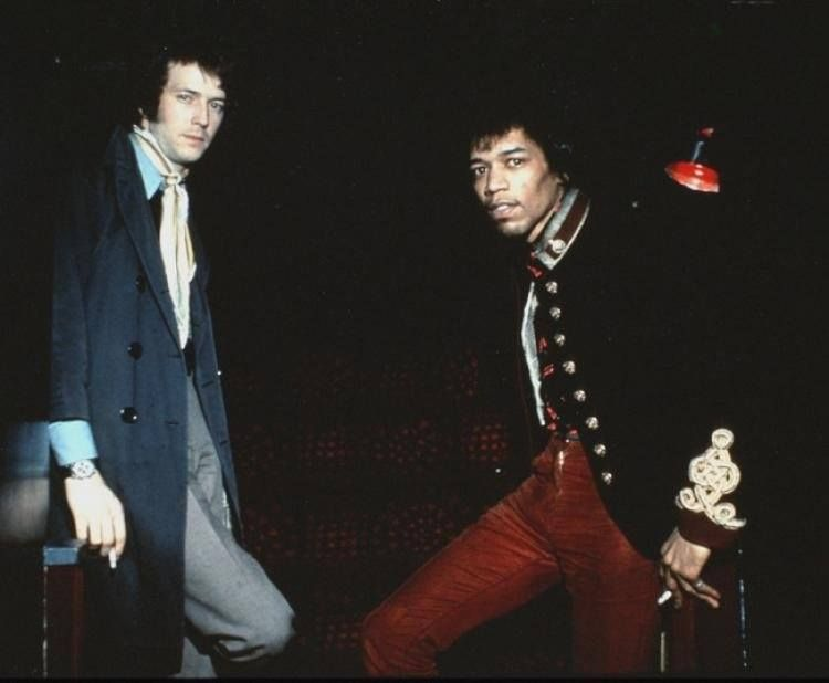 Eric Clapton and Jimi Hendrix, 1967.